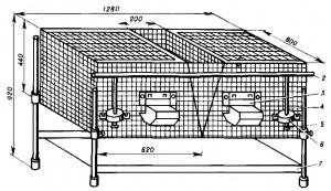 Клетка для содержания кроликов КСК-1