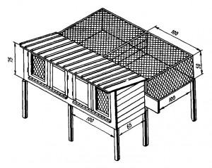 Клетки для кроликов конструкции «Кленово-Чегодаево»