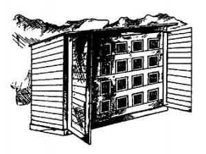 Клетка для кроликов конструкции Э. Овдеенко